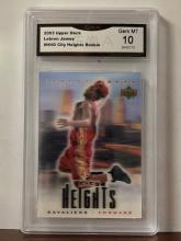 Rare LEBRON JAMES Gem 10 Hologram Rookie Basketball Card