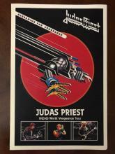 JUDAS PRIEST World Vengeance Tour Concert Poster