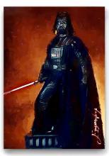 Rare Star Wars DARTH VADER - Artist Hand Autographed Sketch Card