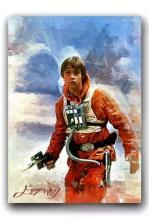 Rare Star Wars LUKE SKYWALKER - Artist Hand Autographed Sketch Card