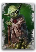 Rare Star Wars YODA - Artist Hand Autographed Sketch Card