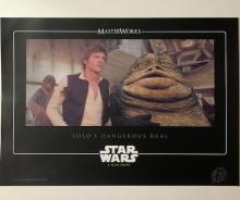 Original Star Wars HAN SOLO & JABBA the HUTT Movie Still Lithograph