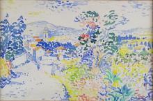 Lucien NEUQUELMAN (1909-1988) - Village provençal.