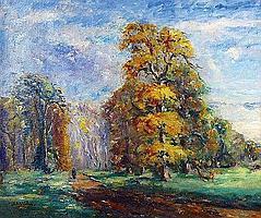 DE LA VILLEON Emmanuel (1858-1944) LE CHENE DORE A