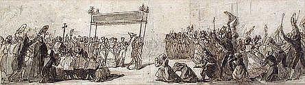 MARLET Jean-Henri Attribué à (1771-1847) RÉCEPTION
