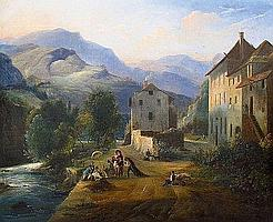 DEFER Jules (1803 - 1902) LE PEINTRE SUR LE MOTIF