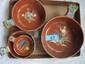 Vintage red ware nesting bowls, Tlaquepaque  Mexicao