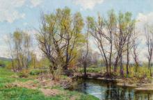 "HUGH BOLTON JONES, American (1848-1927), Early Spring, Near Sheffield, Massachusetts, oil on canvas, signed ""H. Bolton Jones"" lower..."