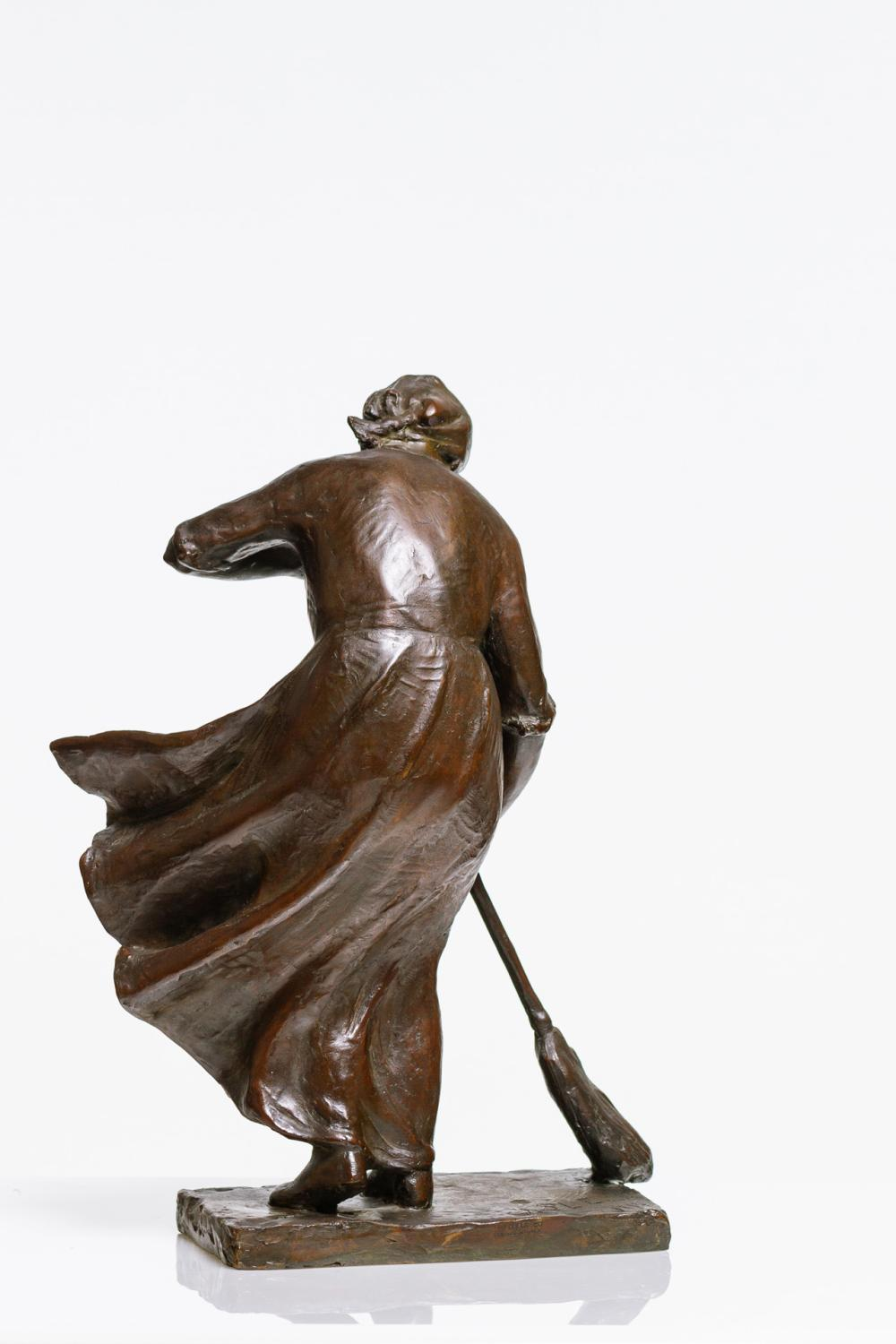 "ABASTENIA ST. LEGER EBERLE, American (1878-1942), ""Windy Doorstep,"" 1910, bronze, signed ""A.S.L. Eberle"" and dated ""1910,"" inscribed..."