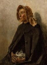 ARTHUR HACKER, British (1858-1919), Portrait of a Woman with Bonnet, oil on canvas, signed