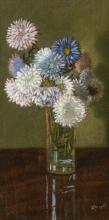 """EDWIN ROMANZO ELMER, American (1850-1923), Floral Still Life, pastel on board, signed and dated lower right """"ERE 1905"""", 11 3/4 x 5 7/8 inches (sight)"""