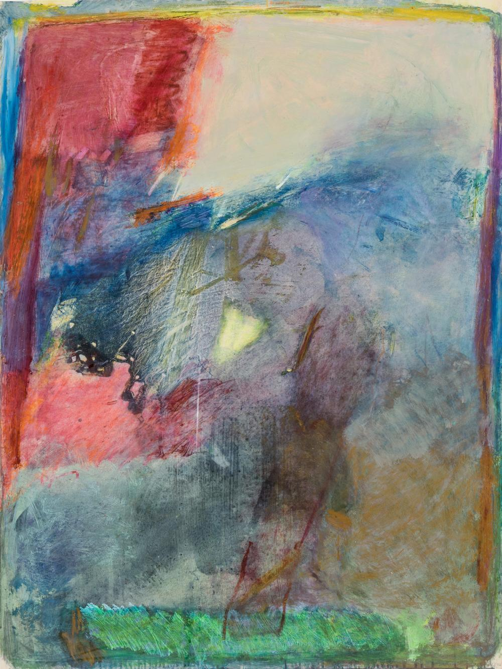 """EMILY MASON, American (1932-2019), Untitled, oil on paper, signed, inscribed and dated in pencil lower right """"Emily Mason NYC 1986-8..."""