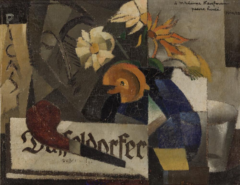 PIERRE HODE, French (1889-1942), Cubist Still Life, oil on canvas, 10 3/4 x 14 inches