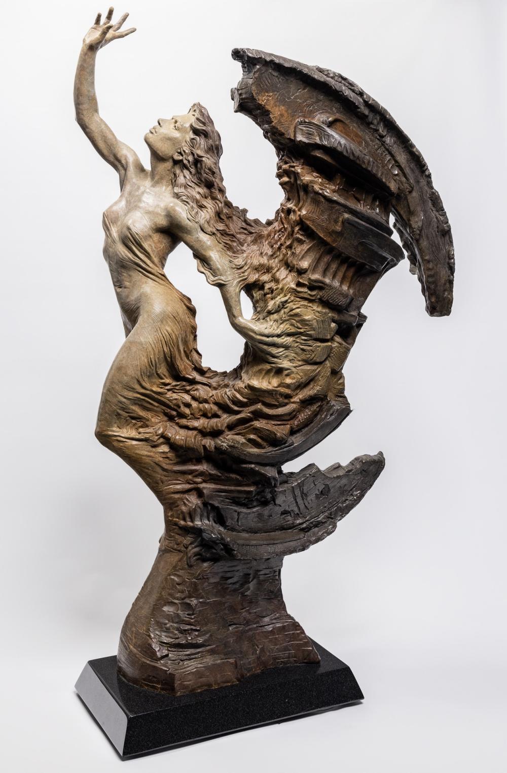 "MARTIN EICHINGER, American (b. 1949), ""Brimstone"", bronze, height: 44 5/8 inches"
