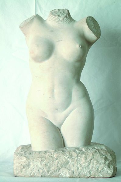 GEORGE MANUEL AARONS Russian/American (1896-1980) Nude Torso marble, 14 1/2 H, signed on base and dated 1944. Provenance: Private Collection, East Dennis, Massachusetts.