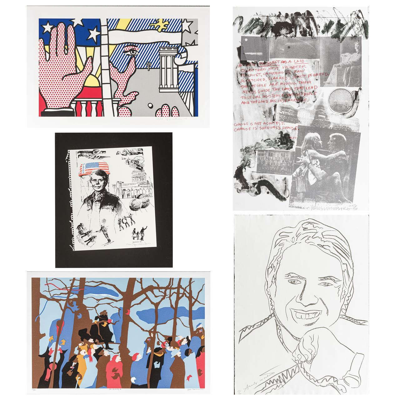 """""""Inaugural Impressions,"""" 1976 Each numbered 57/100, including: ANDY WARHOL American (1928-1987) """"Jimmy Carter"""", lithograph, signed a..."""