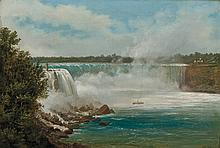 FERDINAND (JOACHIM) RICHARDT, American (1819-1895), Niagara Falls, oil on canvas, signed lower right., 16 x 23 1/3