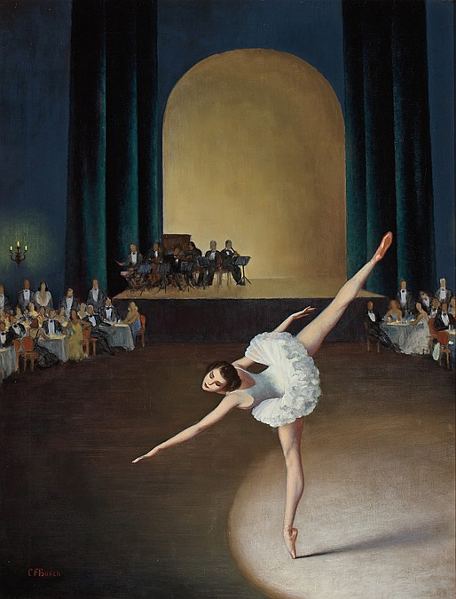CLARENCE BUSCH, American (1885-1946), Ballerina, oil on canvas, signed lower left., 20 x 26