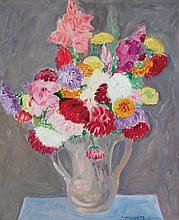 ABRAHAM WALKOWITZ, American (1878-1965), Floral Still Life, oil on canvas, signed lower right and dated 1923., 24 1/8 x 20
