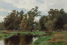 """HUGH BOLTON JONES, American (1848-1927), """"Mid Summer"""", oil on canvas laid down on board, signed lower right """"H. Bolton Jones,"""" signe..."""