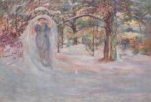 WILLIAM ST. JOHN HARPER, American (1851-1910), Veil in Winter, oil on canvas, unsigned, 30 x 44 inches