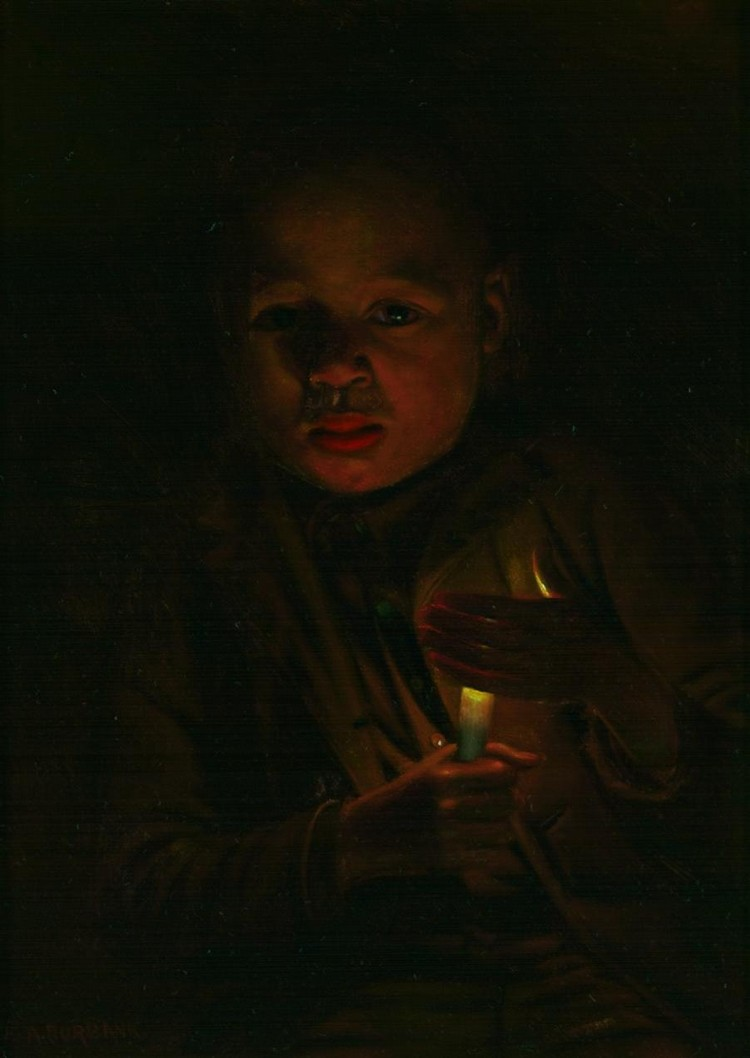 ELBRIDGE AYER BURBANK American (1858-1949) Boy with a Candle