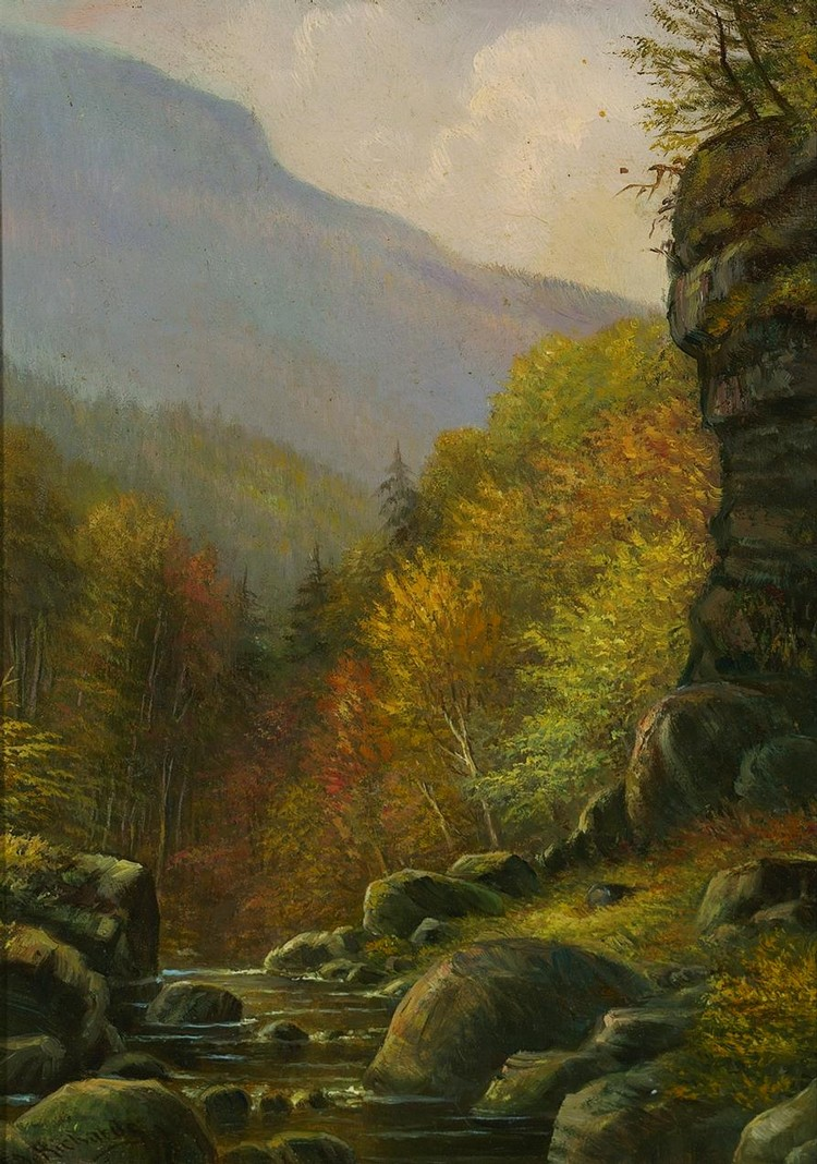 THOMAS ADDISON RICHARDS American (1820-1900) Kaaterskill Clove