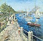 SAMUEL ROTHBORT American (1882-1971) Sheepshead Bay, Brooklyn oil on canvas board, 23 1/4 x 24, signed lower right., Samuel Rothbort, Click for value