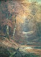 CHARLES CRAIG American (1846-1931) The Waterfall oil on canvas, 50 x 36, signed lower right., Charles Craig, Click for value