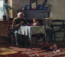 FRANCIS COATES JONES, American (1857-1932), Exchanging Confidences, oil on canvas, signed