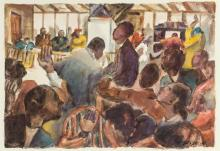 HENRY GASSER, American (1909-1981), At the Club, watercolor on paper, signed