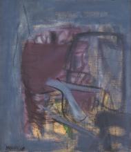 "GIUSTINO VAGLIERI, Italian (1929-2000), Composizione, 1960, oil on canvas, signed and dated ""Vaglieri 60"" lower left., 31 1/2 x 27 1..."