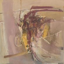 """GIUSTINO VAGLIERI, Italian (1929-2000), """"Personnagio,"""" 1959, oil on canvas, signed and dated lower right """"Vaglieri 59,"""" signed title..."""