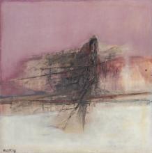 "GIUSTINO VAGLIERI, Italian (1929-2000), ""Mattino Studio,"" 1958, oil on canvas, signed and dated "" Vaglieri 58"" lower left, signed, t..."