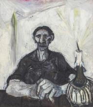 "GIUSTINO VAGLIERI, Italian (1929-2000), Two Portraits (a) ""Donna e Candela"", 1956 (b) Untitled, 1956, (a) oil on canvas, signed and..."