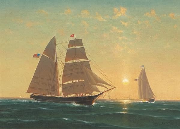 GEORGE CURTIS American (1826-1881)