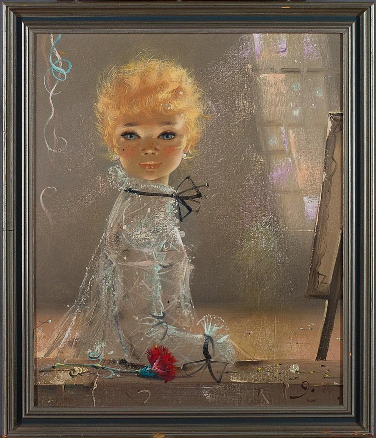 Sold Price: Signed Igor Pantuhoff (1911 - 1972) Oil on