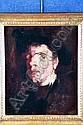 FRANK DUVENECK American (1848-1919) Portrait of a Man, oil on canvas, 18 x 15. Provenance: Mrs. Gregory Smith (granddaughter of J. Alden Weir), Old Lyme, Connecticut; Vance Jordan Fine Art, New York, New York, label verso., Frank Duveneck, Click for value