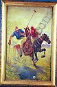 BENTON HENDERSON CLARK American (1895-1964) The Polo Match, oil on canvas on board, 28 x 18, signed lower left & signed & dated 1919 verso., Benton Henderson Clark, Click for value