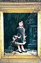 WILLIAM HENRY LIPPINCOTT American (1849-1920) Little Girl in an Interior, oil on canvas board, 11 x 9 1/4, signed verso., William Henry Lippincott, Click for value