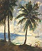 GEORGE HAUSDORF American (1888-1959) Palm Trees, Dominican Republic oil on canvas, signed lower right., George Hausdorf, Click for value