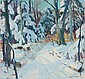 CARL WILLIAM PETERS American (1897-1980) Winter Woodland oil on canvas, signed lower right., Carl William Peters, Click for value