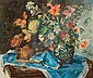 ISTVAN CSOK Hungarian (1865-1961) Still Life with Flower Vase and Teapot oil on canvas, signed lower right and dated 1943., Istvan Csok, Click for value