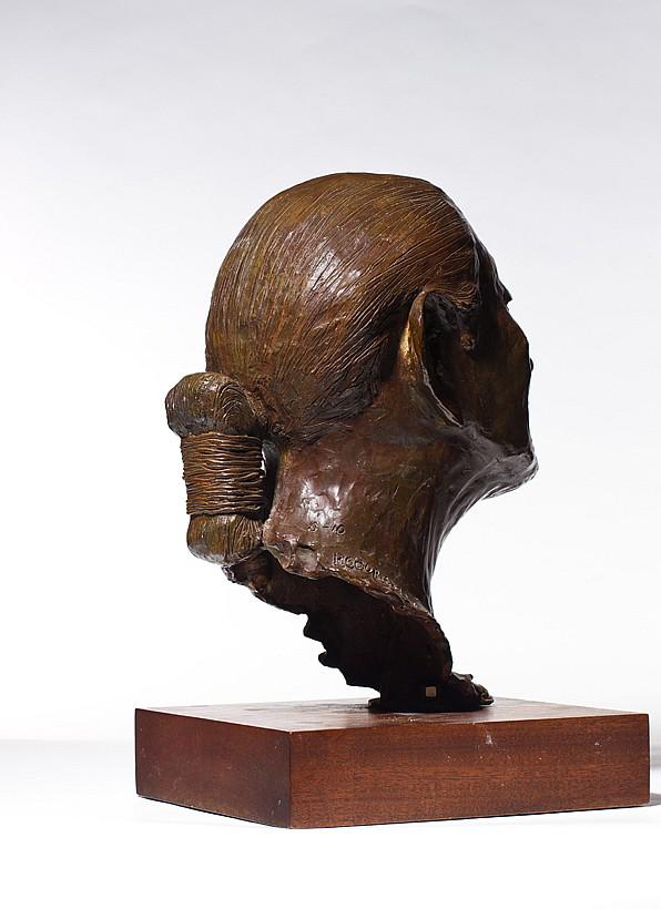 "R.C. GORMAN, American (1932-2005), ""Navajo Code Talker"", bronze, signed, dated 78, edition 8/10., 16""H"