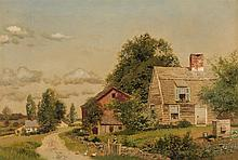 HENRY PEMBER SMITH, American (1854-1907), Farm Landscape, oil on canvas, signed