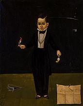 HORACIO RENTERIA ROCHA, Mexican (1912-1972), Portrait of a Young Boy, inscribed