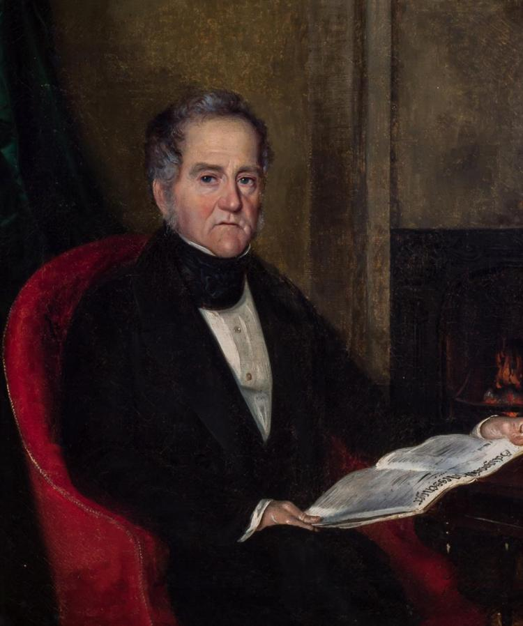 ENGLISH SCHOOL , English (19th Century), Portrait of a Gentleman, oil on canvas, unsigned., 21 3/4 x 18 inches
