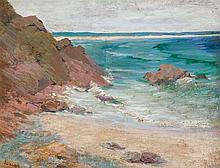 FREDERICK JUDD WAUGH, American (1861-1940), Seascape, oil on board, signed
