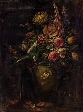 MAUD STUMM, American (1866-1935), Floral Still Life, oil on wood, signed