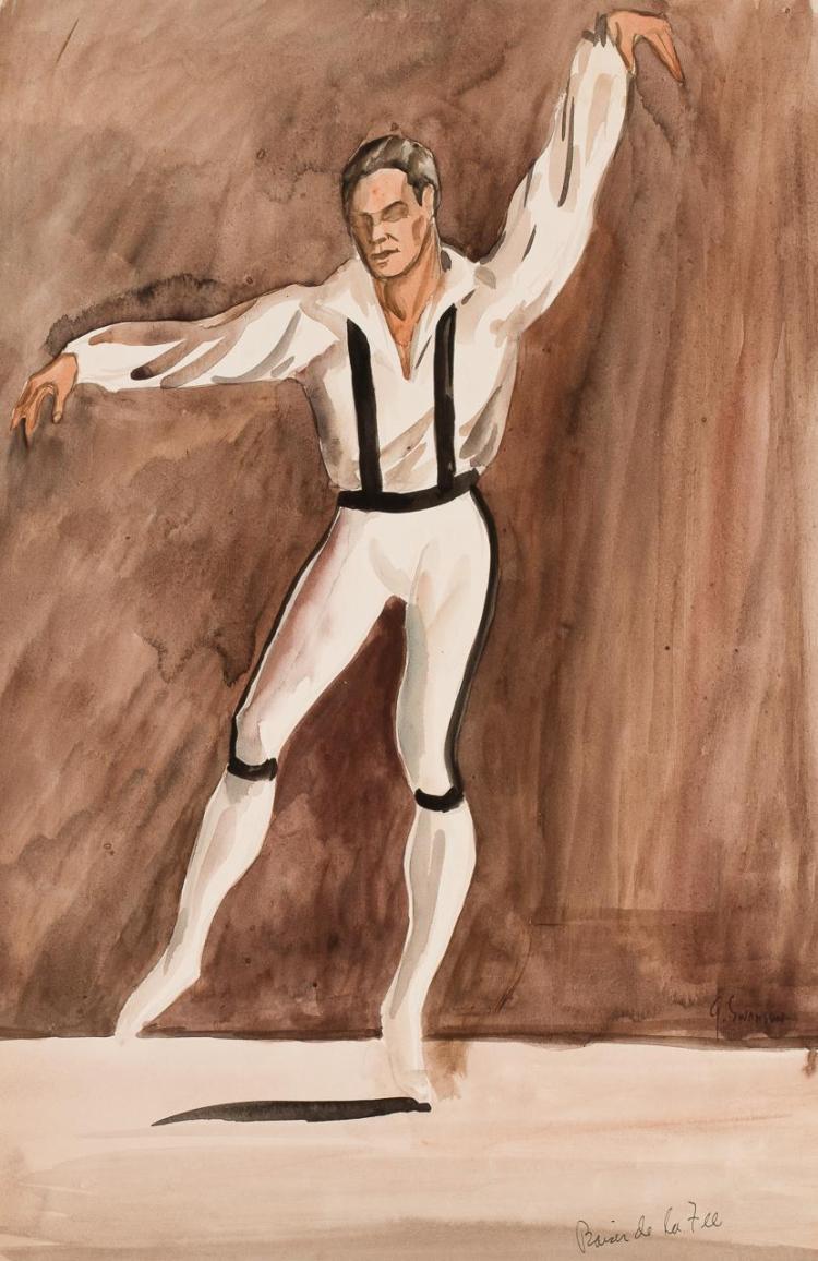 GEORGE ALAN SWANSON, American (1908-1968), La Baiser de la Fee, watercolor, signed